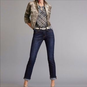 Cabi High Rise Straight Leg Denim Jeans
